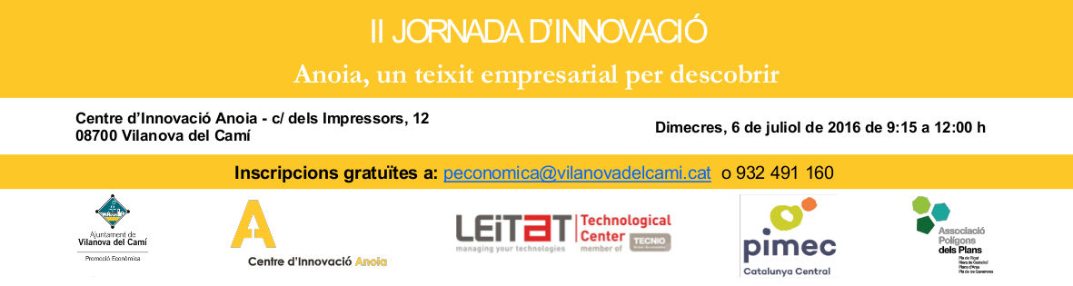 II Jornada Innovació 10x30 Banner