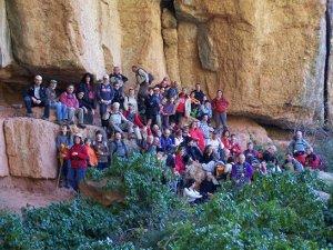 La Colla Excursionista de Vilanova al Plec dels llibres i aurons, a Montserrat