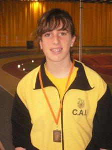 L'atleta vilanovina Ariadna Ramos ha assolit el 3r lloc i el Bronze al Campionat d'Espanya Juvenil