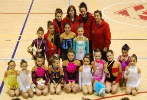 El Club Rítmica San Roque s'emporta 8 medalles al Campionat de Catalunya en edat escolar a Figueres