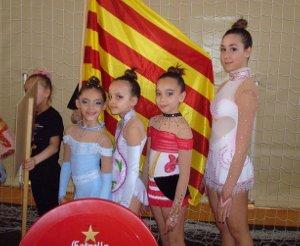 Bons resultats de les gimnastes del Club San Roque en el Campionat Nacional de Benidorm