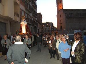 La romeria en honor a la Verge de los Hitos aplega unes 300 persones al Parc Fluvial