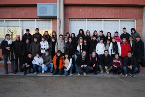 Alumnes francesos d'Amilly fan una estada d'intercanvi a Vilanova del Camí