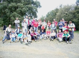 La Colla Excursionista de Vilanova del Camí de sortida a Prades