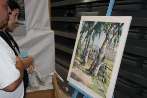 El concurs de pintura ràpida de Vilanova del Camí bat tots els rècords de participació