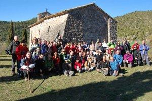 La Colla Excursionista va caminar de Massana a Sant Pere Sallavinera