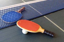 El palista vilanoví Matías Blanco als Campionats d'Espanya de Tennis Taula