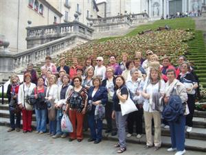 Prop de 40 dones participen en una sortida de la Dona Vilanovina