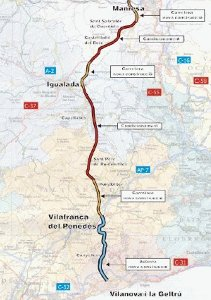 El tram de l'Eix Diagonal entre Vilanova del Camí i Castellfollit del Boix s'obrirà dissabte