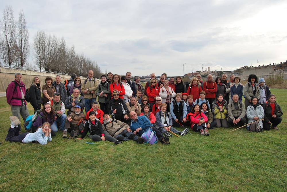 Planera caminada de la Colla, des de Sabadell al Fòrum