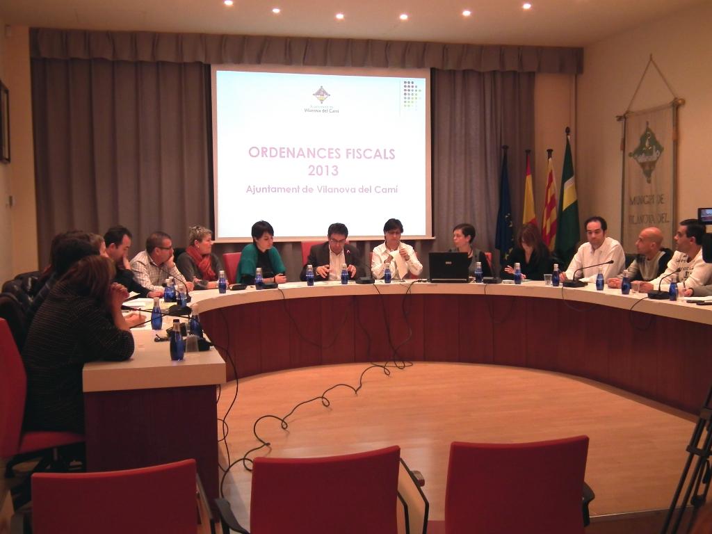 """El Ple aprova """"in extremis"""" les Ordenances Fiscals per al 2013"""