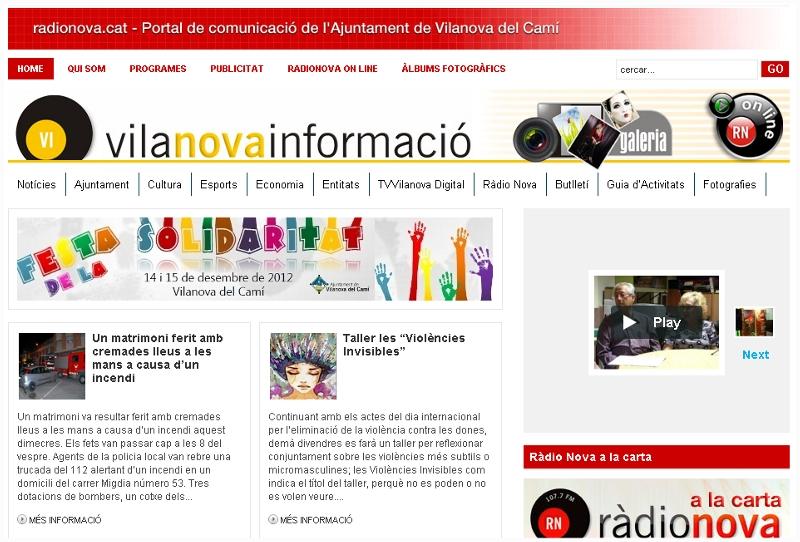 Vilanova del Camí presenta quatre iniciatives als premis de comunicació de la Diputació de Barcelona