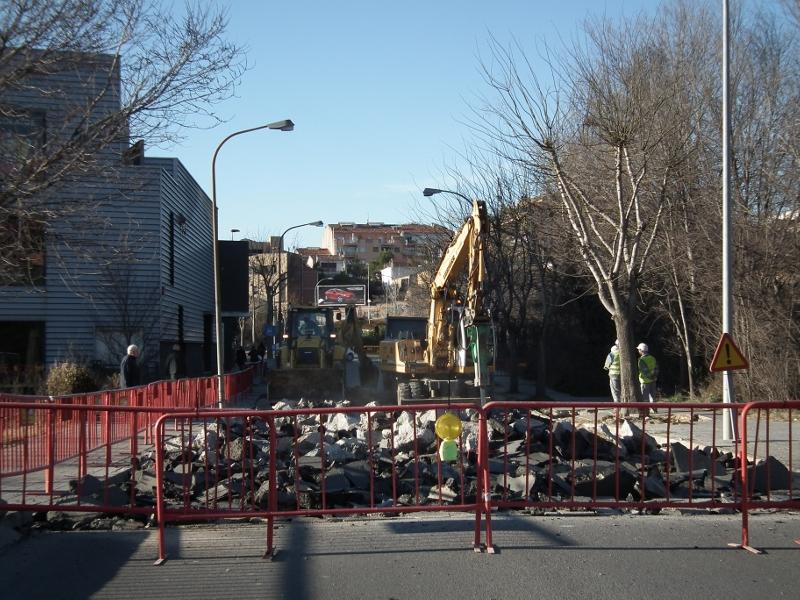 Aigua de Rigat afirma que l'enfonsament de l'avinguda Vilanova no és greu
