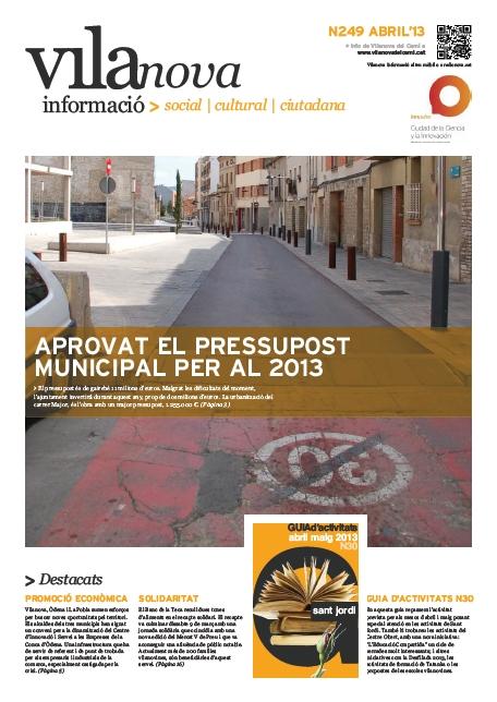 Vilanova Informació – Butlletí n.249 Abril 2013