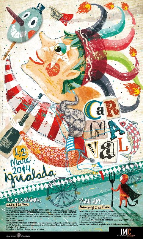 El Carnaval d'Igualada, primera gran cita per a comparses d'arreu de la conca