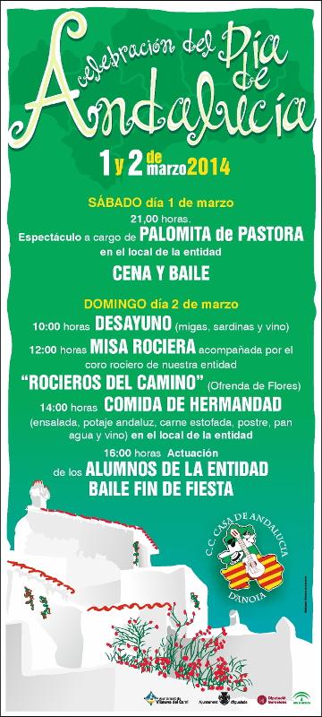La casa andalusa anoienca celebra el Dia d'Andalusia