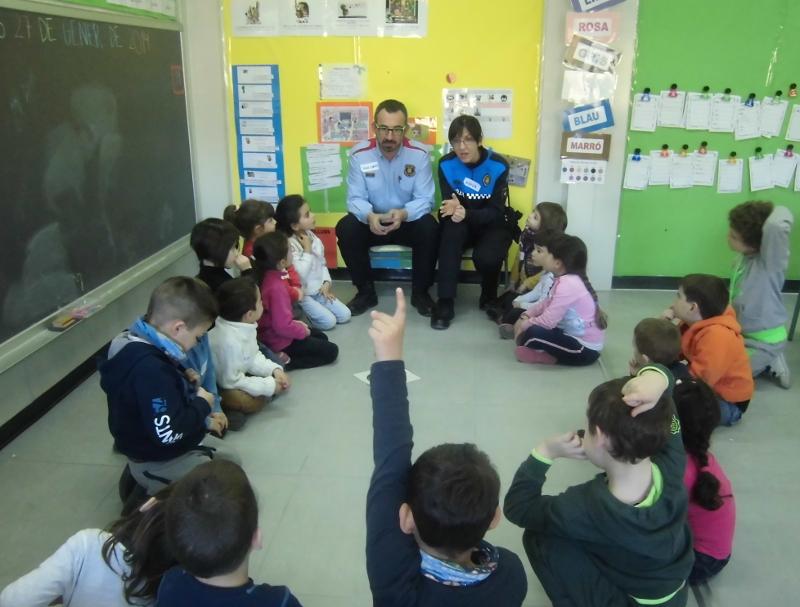 Mossos i Policia reprenen les classes d'Educació Viària per a la quitxalla