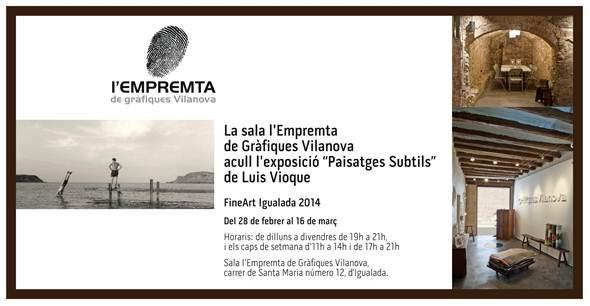 L'Empremta participa en el FineArt 2014 amb una mostra de Luis Vioque