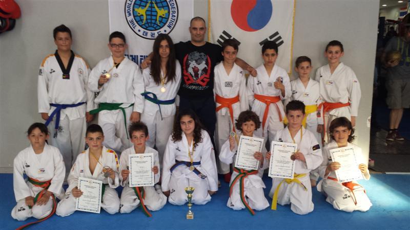 Or, plata i bronze per al Furio Jol en el campionat infantil de Taekwondo