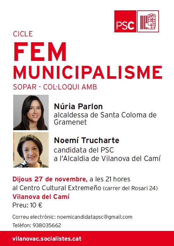 Sopar-col·loqui del PSC amb Noemí Trucharte i Núria Parlon