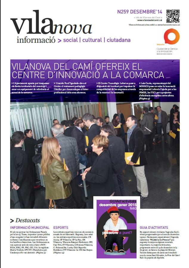 Butlletí Vilanova Informació n.259 – Desembre 2014