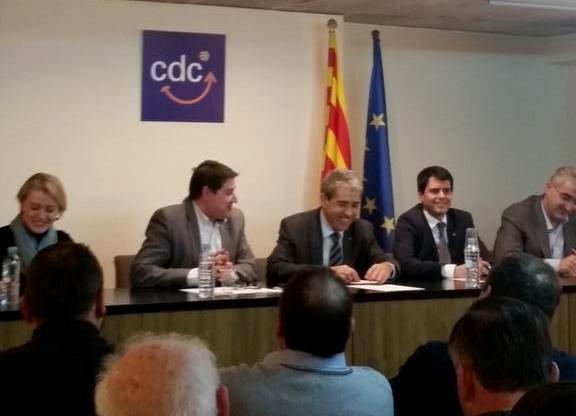 El conseller Francesc Homs presideix l'assemblea de CDC