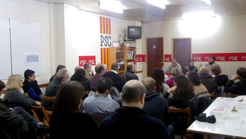 El PSC Vilanova se suma a la tesis de Pedret sobre l'opció federalista