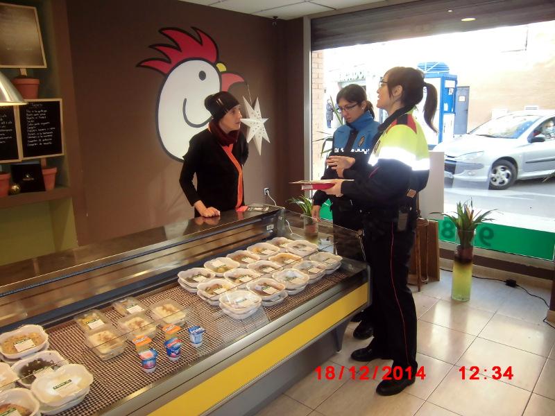 Policia Local i Mossos aconsellen els comerciants dins el Pla Grèvol 2014