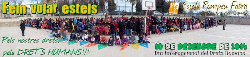 L'Escola Pompeu Fabra s'omple d'estels pels Drets Humans