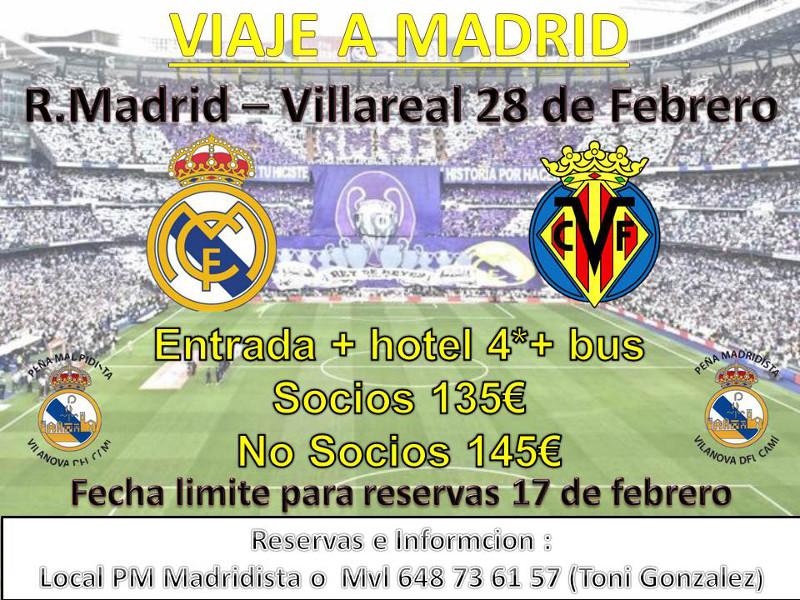 La Peña Madridista prepara sortida per veure el Real Madrid-Villarreal