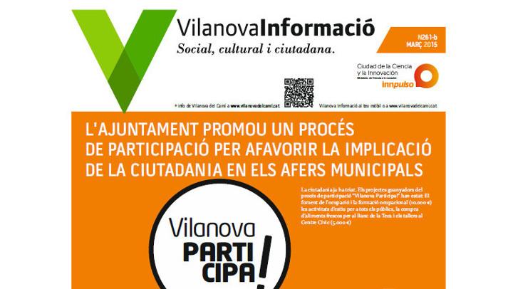 Butlletí Vilanova Informació març 2015 – Informació municipal