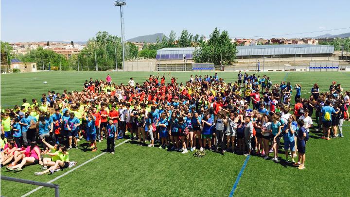L'Institut Pla de Les Moreres amfitrió de la 1a Trobada esportiva comarcal Infantil
