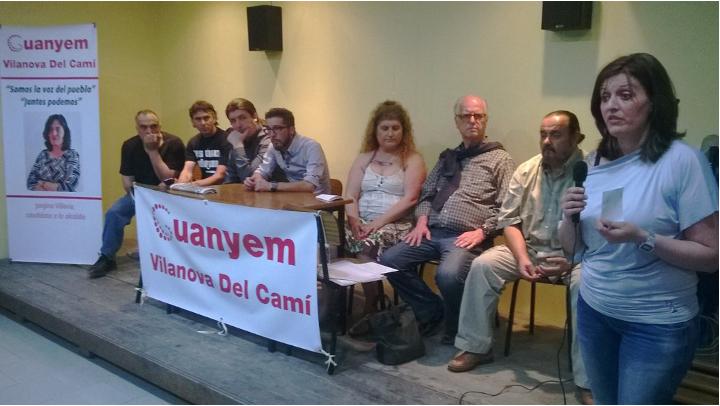 Activistes socials de Podemos donen suport a Guanyem Vilanova