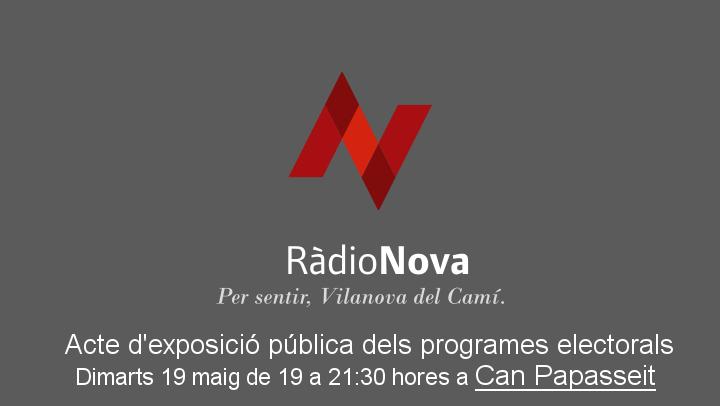 Ràdio Nova reunirà el programa dels onze alcaldables a Can Papasseit