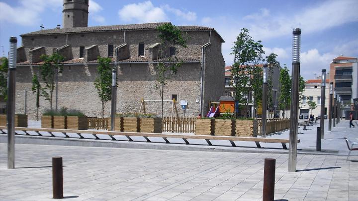 La plaça del Mercat està tallada al trànsit fins el 13 de setembre
