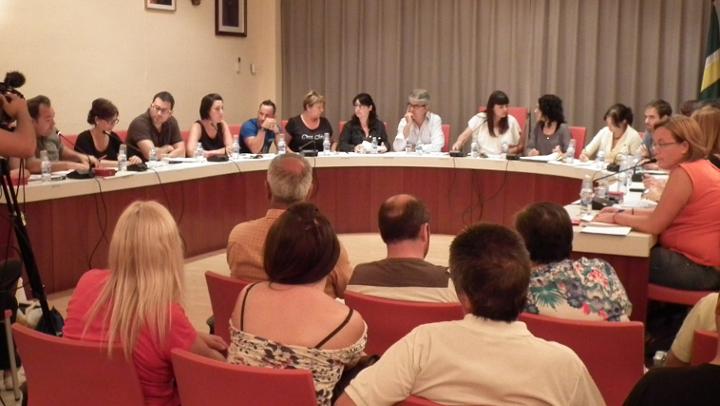 Vilanova celebra una sessió plenària llarga i tensa però amb força consens
