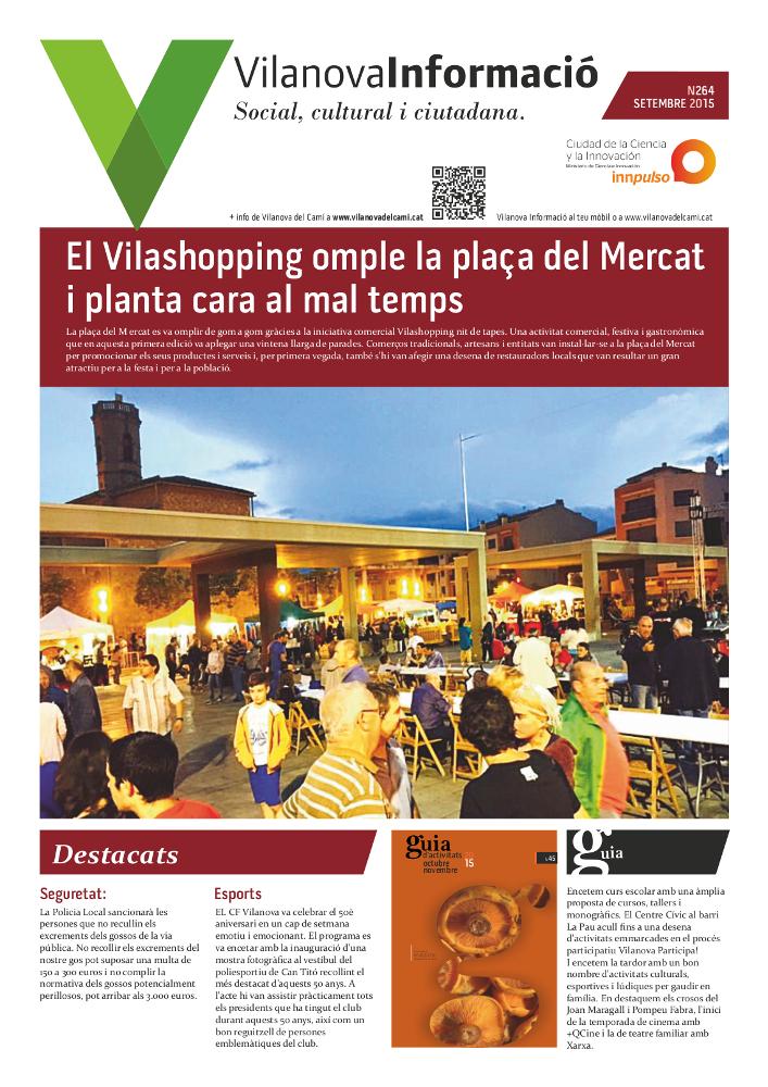 Butlletí Vilanova Informació n.264 Octubre 2015