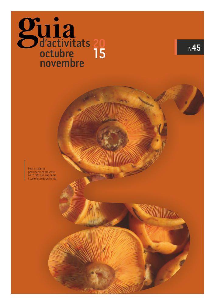 GUIA d'ACTIVITATS n.45 – Octubre – Novembre 2015