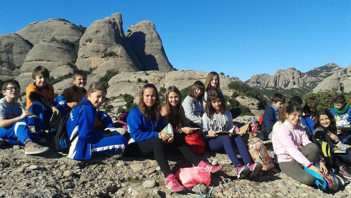 Alumnes de 6è del Pompeu Fabra al Parc Natural de Montserrat