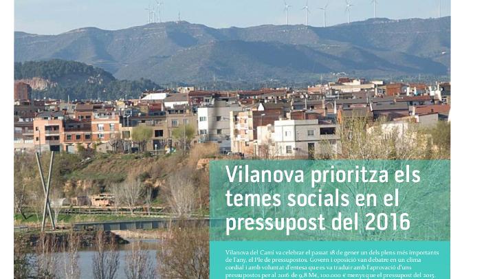 El butlletí Vilanova Informació i la Guia d'activitats febrer-març ja són al carrer
