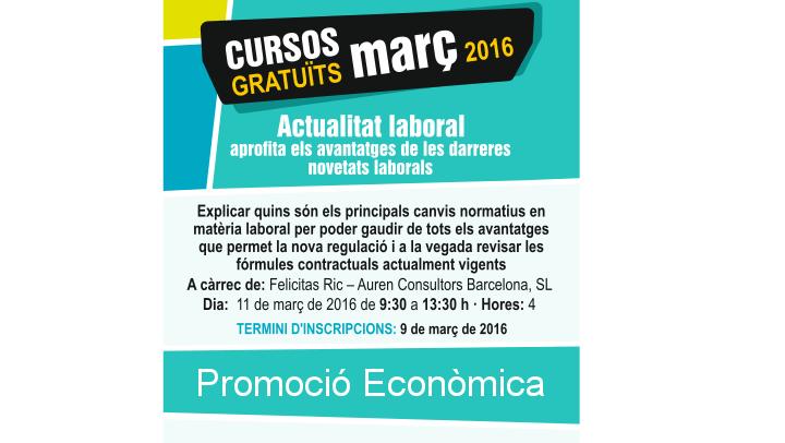 Cursos gratuïts de Promoció Econòmica el mes de març