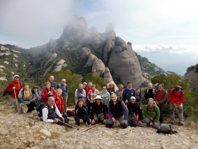 Serrat de la Pastereta a Montserrat amb la Colla vilanovina