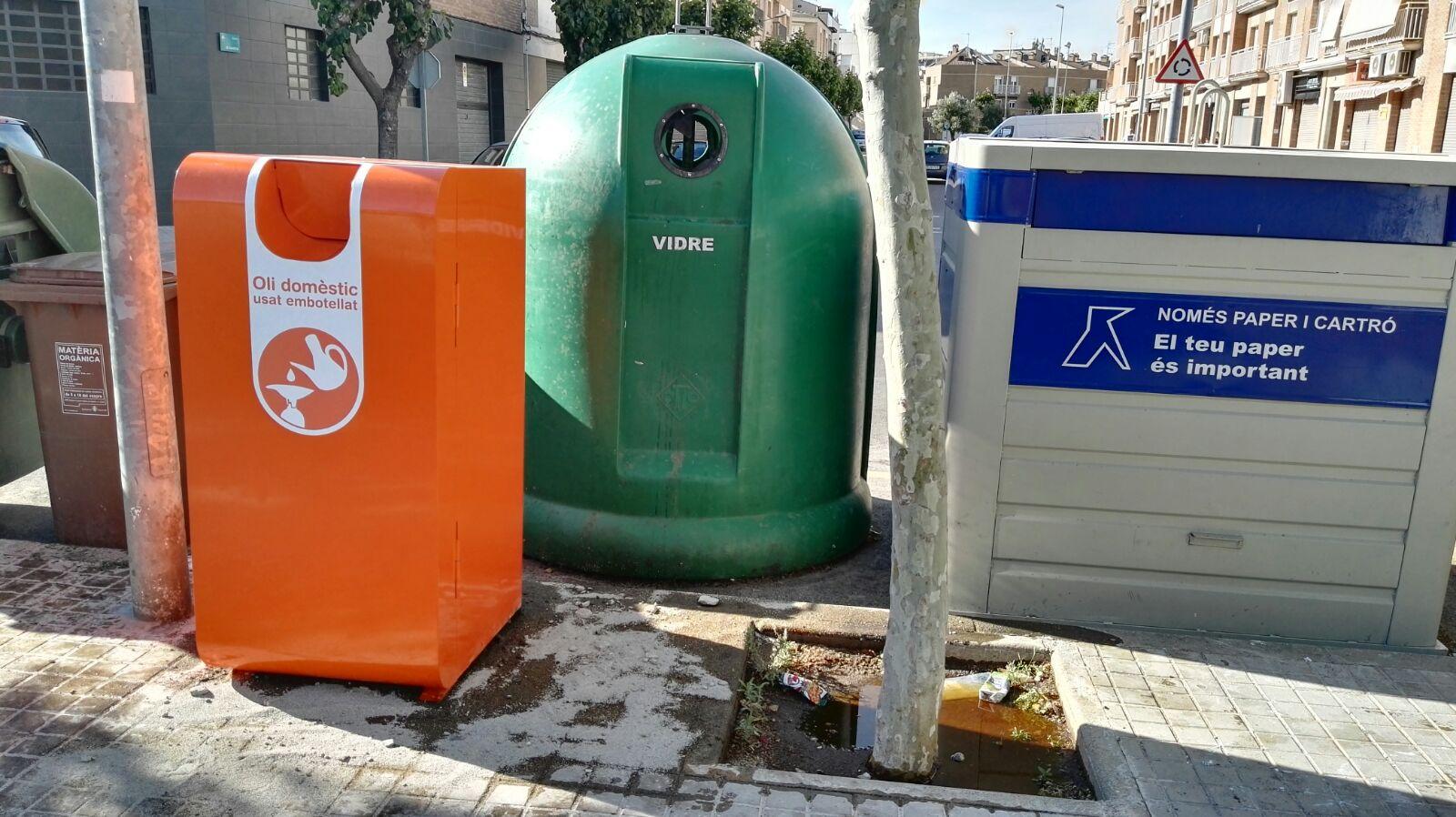 Vilanova estrena nou sistema de recollida d'olis vegetals usats