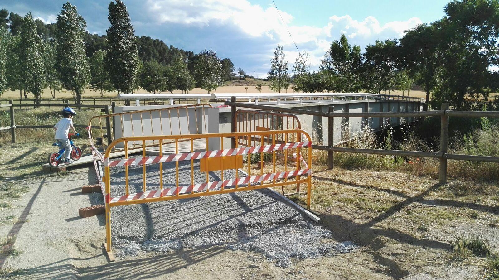 La passarel·la del Parc Fluvial es tancarà provisionalment per suprimir barreres arquitectòniques