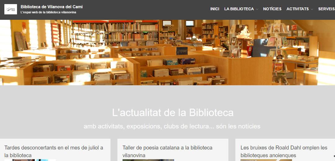 La Biblioteca de Vilanova del Camí estrena lloc web