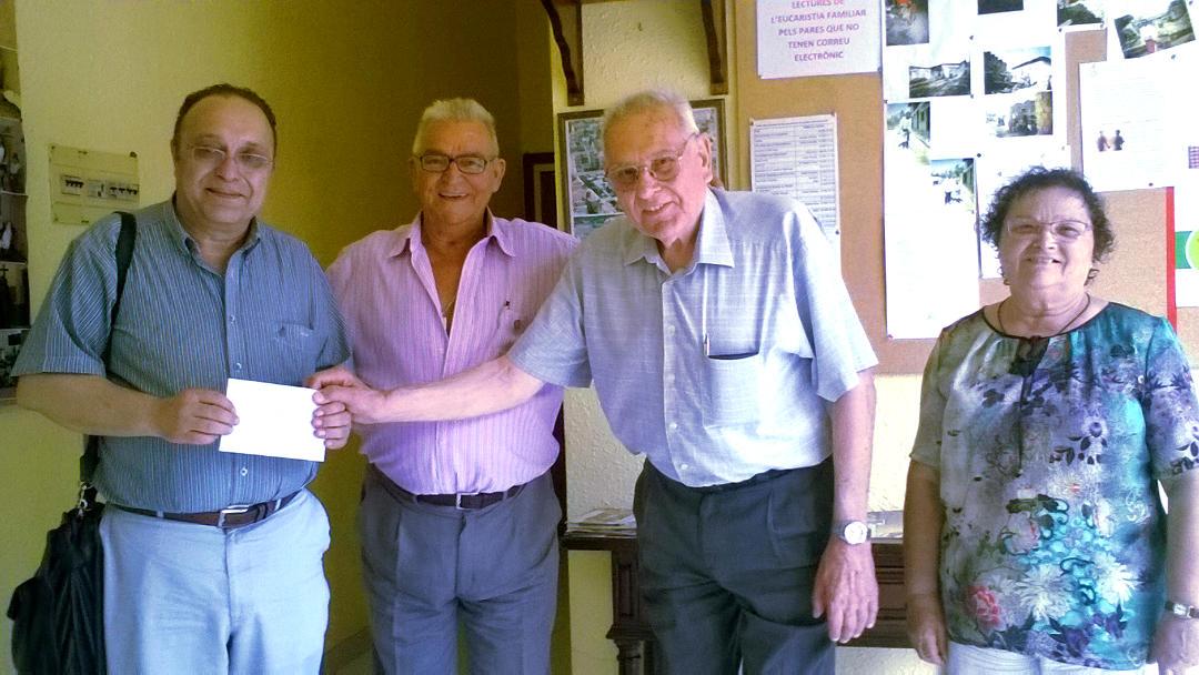 L'Associació de Pensionistes i Jubilats dóna a Càritas la recaptació del bingo solidari
