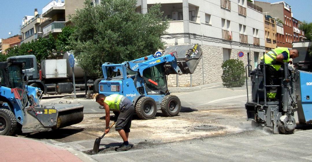 Avui s'asfalta el carrer St. Hilari