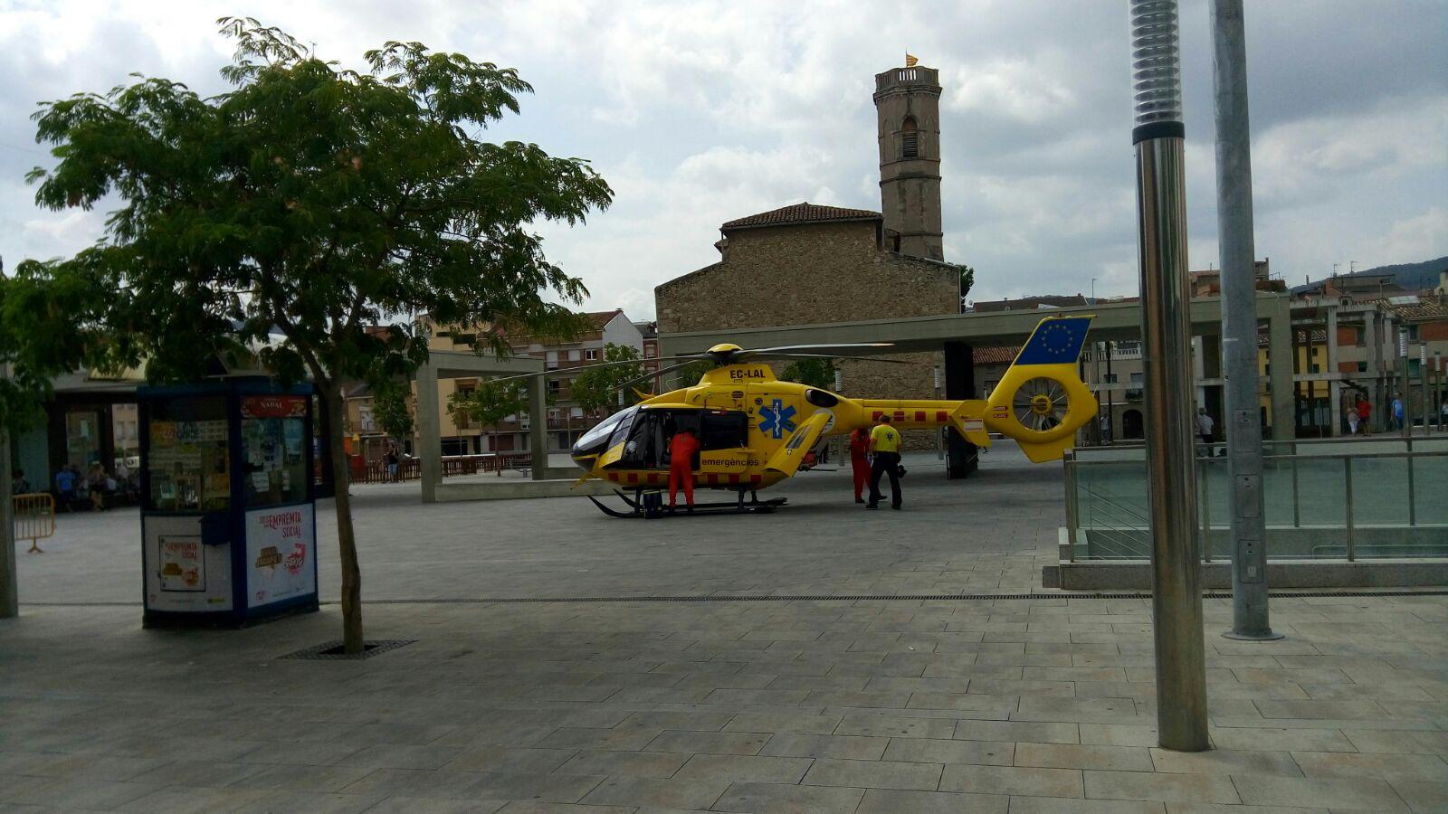 Fotonotícia – Helicòpter a la pl. del Mercat