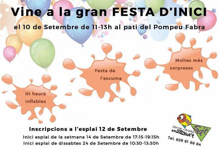 Festa d'inici de curs de l'Esplai Endinsa't, aquest dissabte