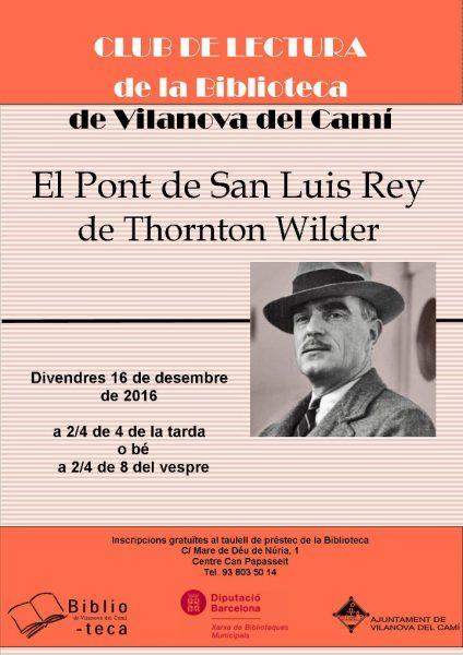Club de lectura el Pont de San Luis